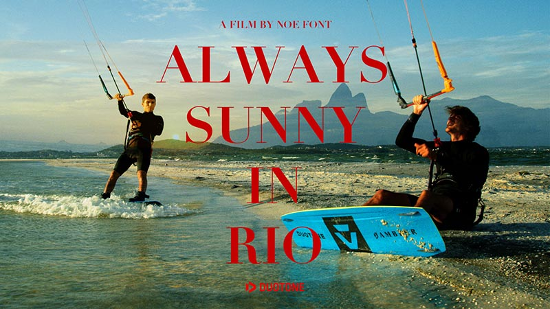 Kitesurfing in Rio with the Duotone team