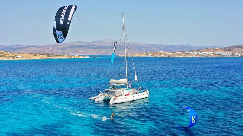 The Action Cruise kiteboarding trips