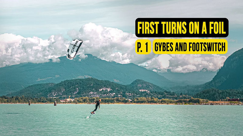 Steven Akkersdijk - First turns on a foil